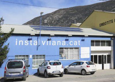 Projecte instal·lació fotovoltaica per autoconsum amb bateries, aula de formació i exposició